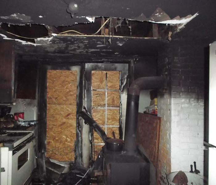 Fire Damage – Los Angeles Kitchen Before