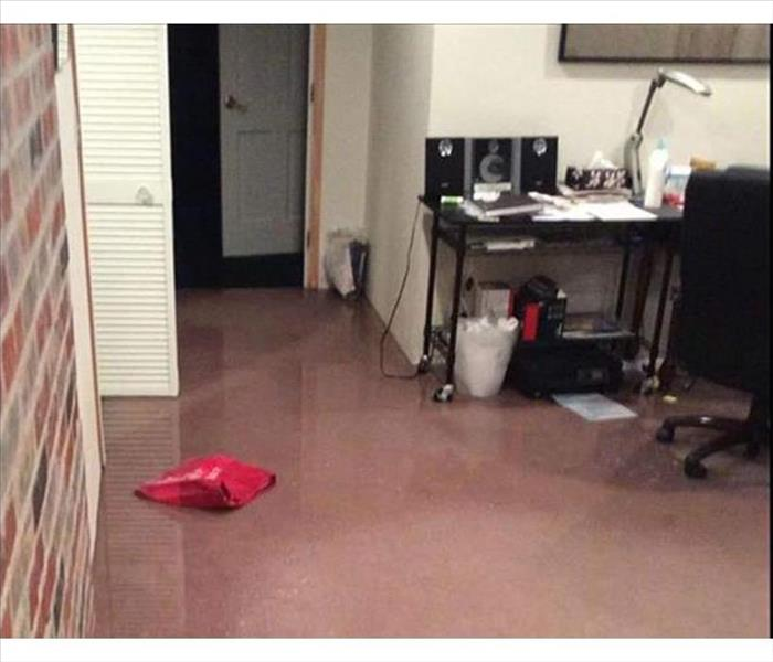 Home Office Water Damage in Beverly Hills Before